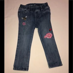 Baby Gap 1969 Jeans w/ Stars/Flower/ Insects 2T